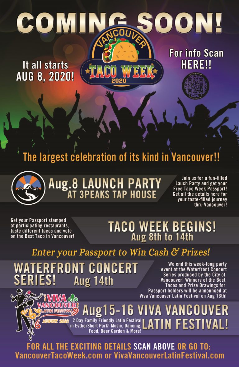 Vancouver Taco Week Launch Poster